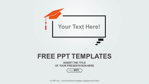 Graduation cap on speech balloon powerpoint templates toneelgroepblik Images