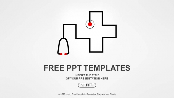 Free simple powerpoint templates design stethoscope as symbol of medicine powerpoint templates toneelgroepblik Images
