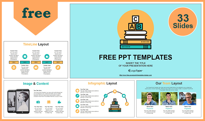 Alphabet blocks of education concept powerpoint template alphabet blocks of education concept powerpoint templates post toneelgroepblik Images