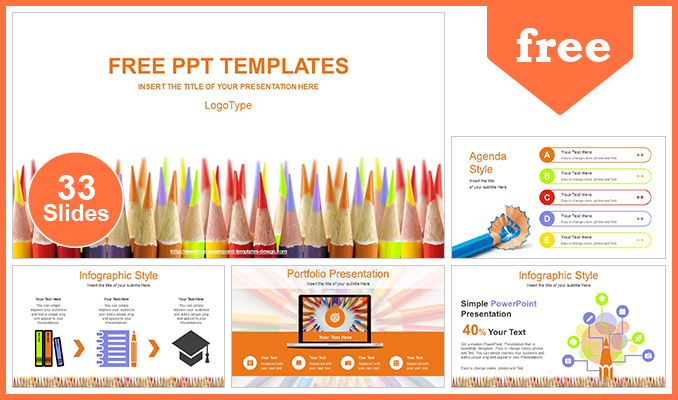 Colored-Pencils-Education-Concept-PowerPoint-Template-post