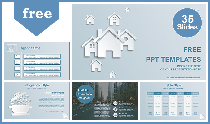 Free modern powerpoint templates design real estate house ions powerpoint template list toneelgroepblik Image collections