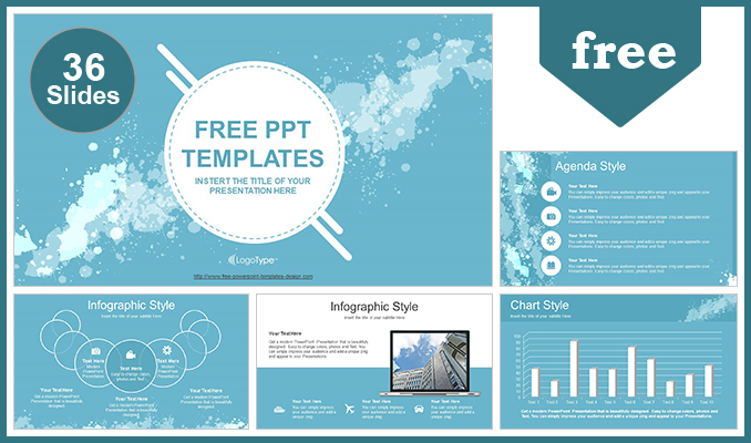 Water colored splashes powerpoint template water colored splashes powerpoint template post toneelgroepblik