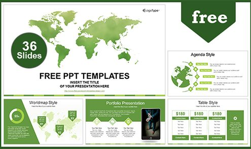 Global-Business-Map-PowerPoint-Template-LIST