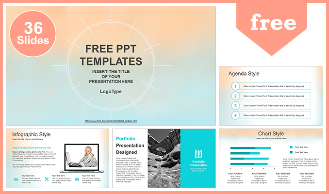 Free modern powerpoint templates design pastel watercolor painted powerpoint template list toneelgroepblik Gallery