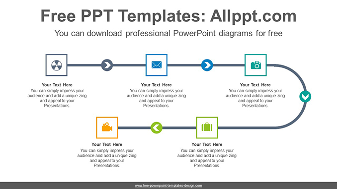 5-step linear flow PowerPoint Diagram Template-post image