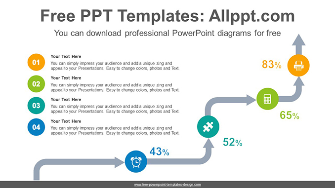 Arrow stairs powerpoint diagram template ccuart Choice Image