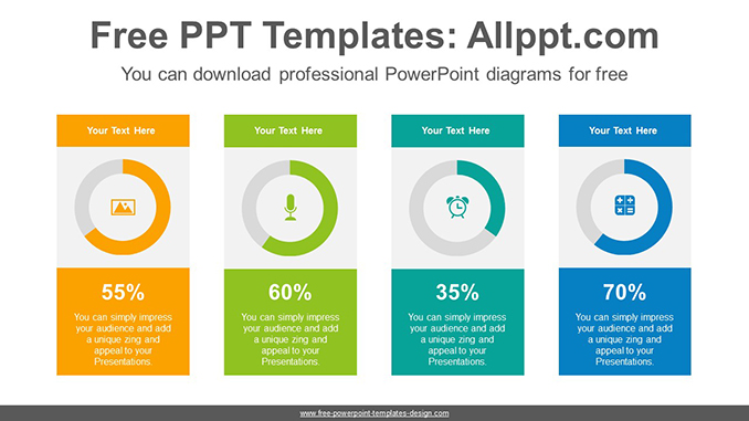 Colorful donuts charts PowerPoint Diagram Template-post-image