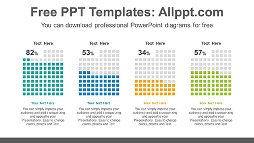 Equalizer cube charts PowerPoint Diagram Template-list image