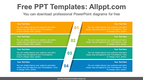 Four split banners PowerPoint Diagram Template-list image