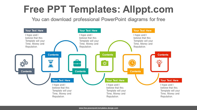 Six rectangles progress PowerPoint Diagram Template-post image