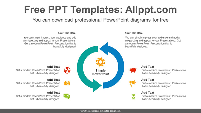 Two curved arrows PowerPoint Diagram Template-post image