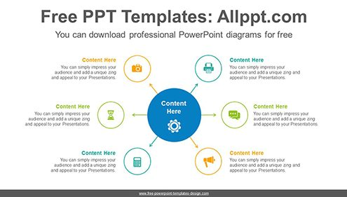 6 circles PowerPoint Diagram Template-list image