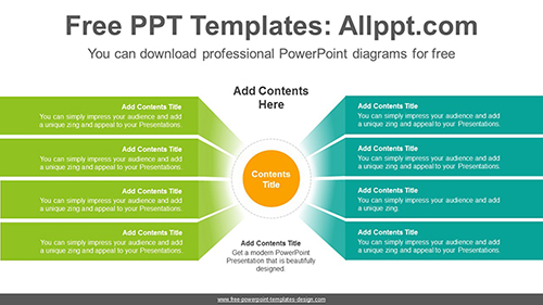 8 bent banners PowerPoint Diagram Template-list image