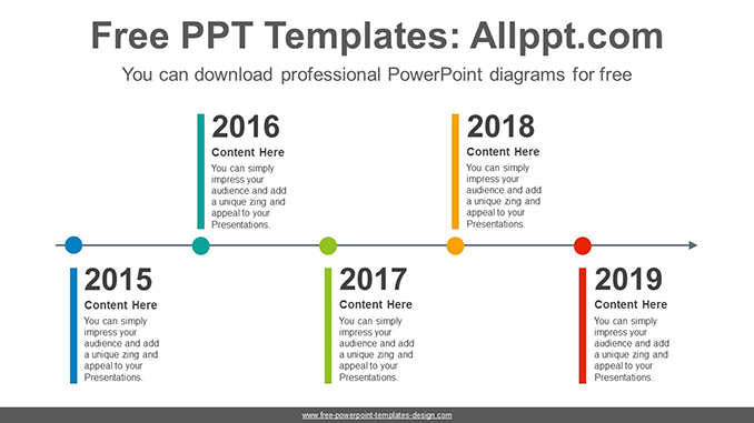 Alternating color bars PowerPoint Diagram Template-post image