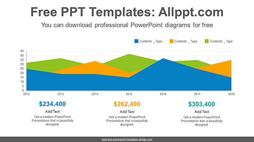 Area chart PowerPoint Diagram Template-list image