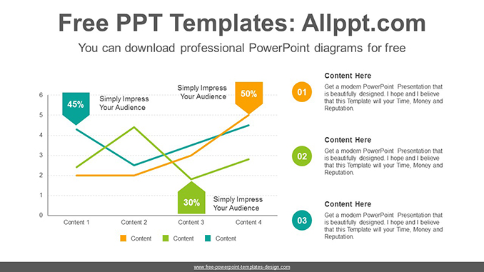 Arrow tag line chart PowerPoint Diagram Template-post image