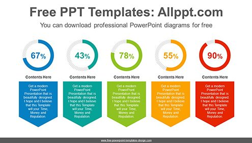 Banner donut chart PowerPoint Diagram Template-list image