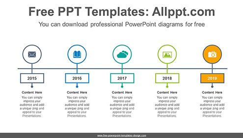 Border highlighted signpost PowerPoint Diagram Template-list image