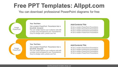 Card type banner PowerPoint Diagram Template-list image