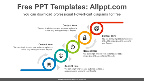 Cascading circles PowerPoint Diagram Template-list image