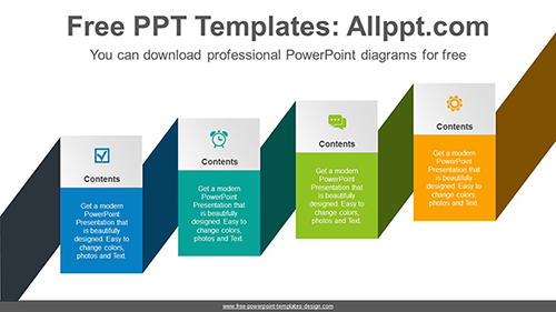 Cascading ribbon banner PowerPoint Diagram Template-list image