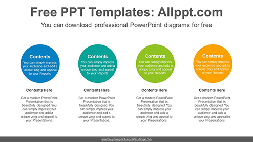 Circle text box PowerPoint Diagram Template-list image