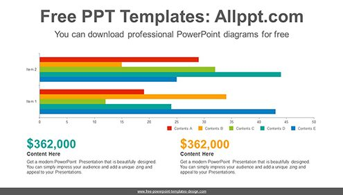Clustered bar chart PowerPoint Diagram Template-list image