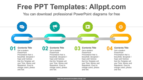 Colorful chain PowerPoint Diagram Template-list image