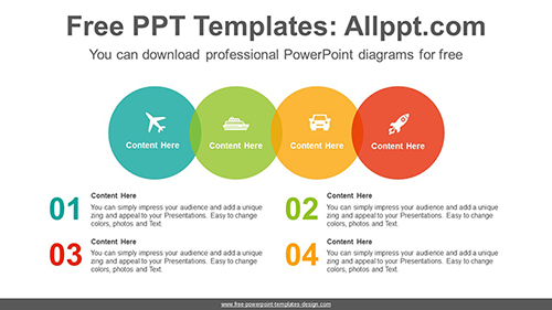 Colorful circle list PowerPoint Diagram Template-list image