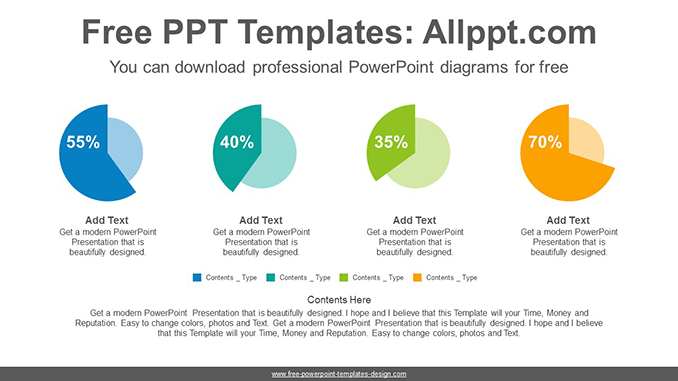 Colorful pie charts PowerPoint Diagram Template-post image