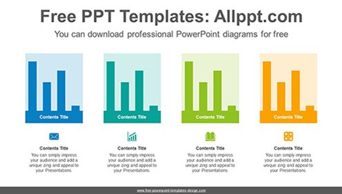 Colorful vertical bar chart PowerPoint Diagram Template-list image