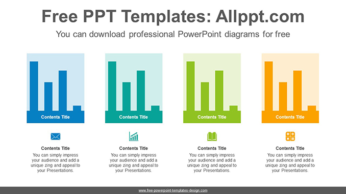 Colorful vertical bar chart powerpoint diagram template toneelgroepblik Image collections