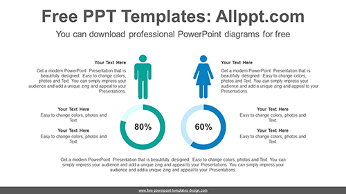 Comparative donut chart PowerPoint Diagram Template-list image