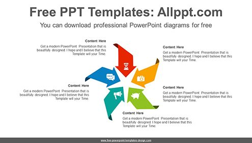 Concentrated arrow PowerPoint Diagram Template-list image