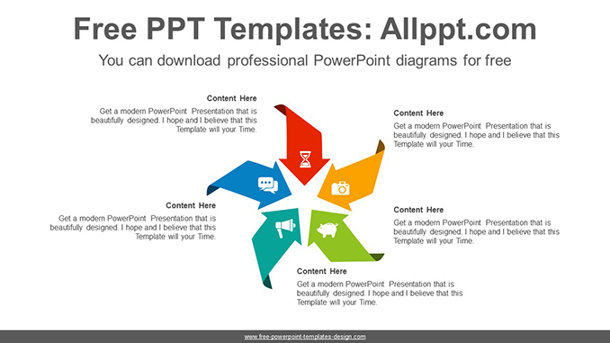 Concentrated arrow PowerPoint Diagram Template-post image