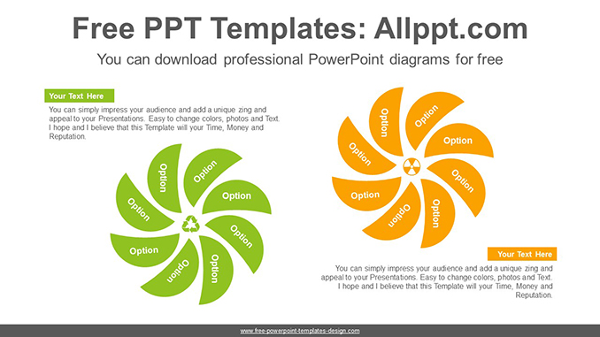 Concentric union flower PowerPoint Diagram Template-post image