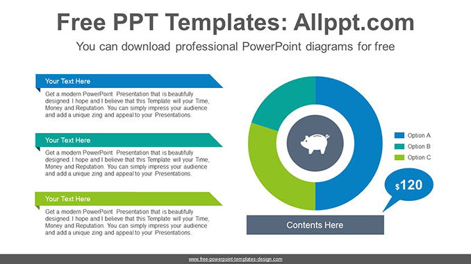Donut pie chart powerpoint diagram template ccuart Gallery