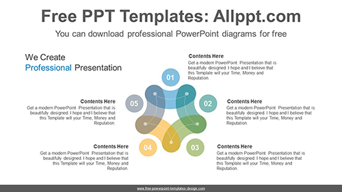 Donut star shape PowerPoint Diagram Template-list image