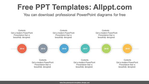 Dotted lines surround circles PowerPoint Diagram Template-list image