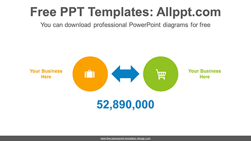 Double sided arrows PowerPoint Diagram Template-list image