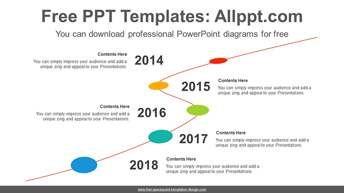 Five-level linear PowerPoint Diagram Template-post image