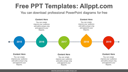 Five placemark icon PowerPoint Diagram Template-list image
