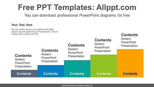 Five terraced podium PowerPoint Diagram Template-list image