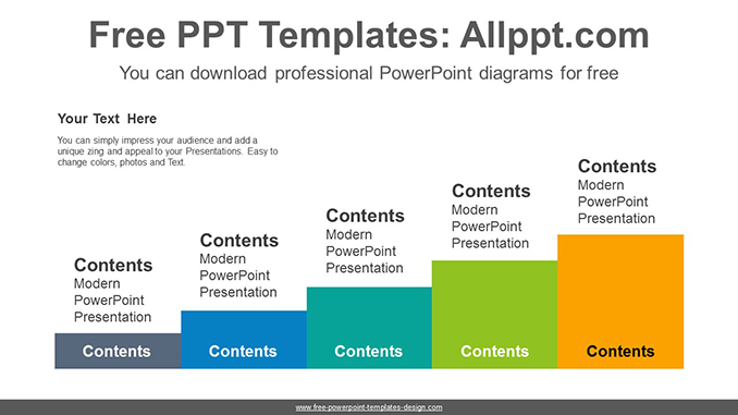 Five terraced podium PowerPoint Diagram Template-post image