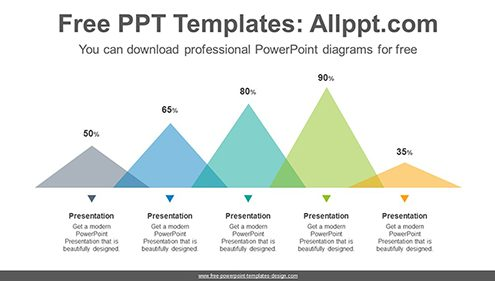 Flat triangle chart PowerPoint Diagram Template-list image