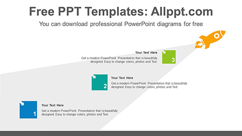 Flying rocket trail PowerPoint Diagram Template-list image