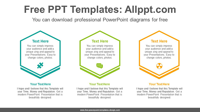 Hexagonal text box PowerPoint Diagram Template-post image