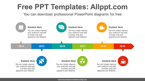 Horizontal alignment rectangle PowerPoint diagram template-list image
