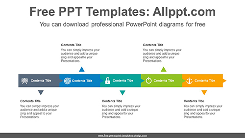 Horizontal alignment square PowerPoint Diagram Template-list image
