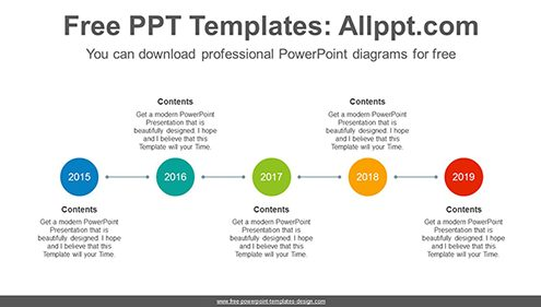 Horizontal circle PowerPoint Diagram Template-list image